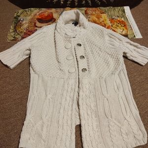 Apt 9 Beige Long Large Buttons Cardigan S/M/L